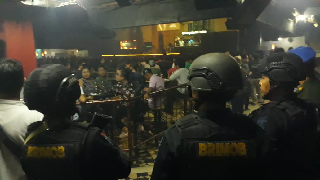 Polisi, BNN dan TNI Razia THM di Banjarmasin