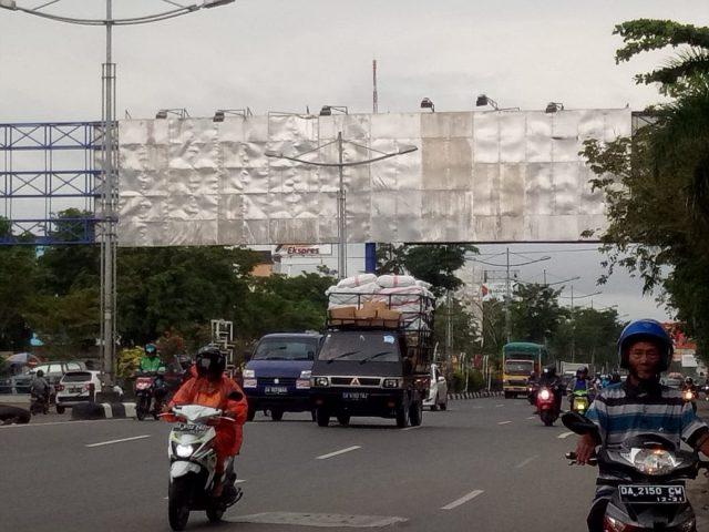 Alasan Keselamatan, Reklame Bando Tak Boleh Lagi Terpasang Di Banjarmasin
