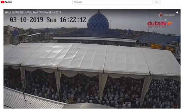 Ini Dia Link CCTV Yang Bisa Dipantau Oleh Warganet secara Real Time Saat Haul Abah Guru Sekumpul ke-15