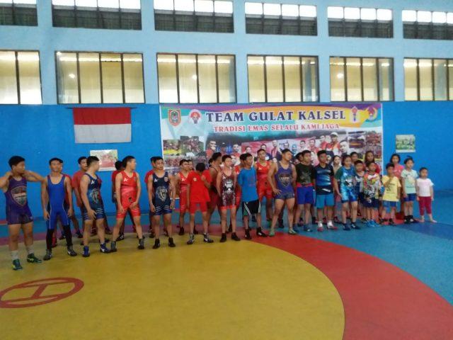Atlet Gulat PPLP Kalsel Wakili Daerah Masing Masing Di Popda