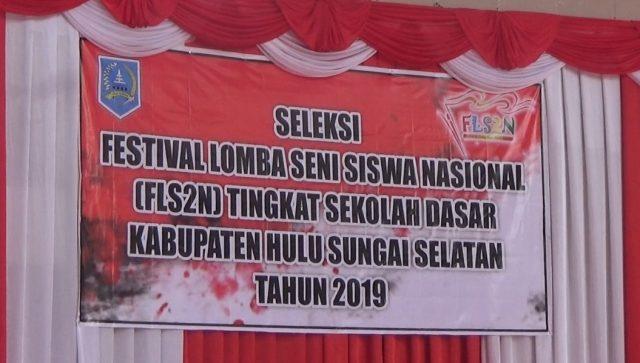 Ratusan Anak Bersaing Tampilkan Bakat Seni di FLS2N Tingkat Kabupaten HSS