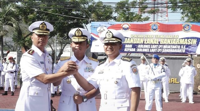 Danlantamal XIII Tarakan Pimpin Sertijab Danlanal Banjarmasin