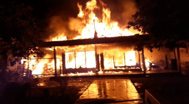 Rumah Kai Ramli dan Zaini Ludes Diamuk Api