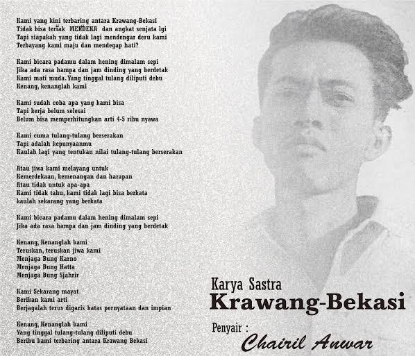 Pak Bambang Biro Humas: Semua Tertegun Simak Puisi Karawang - Bekasi, Paman Birin