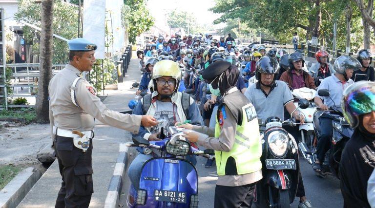 Ditlantas Polda Kalsel Gelar Razia di Jalan Jenderal Sudirman