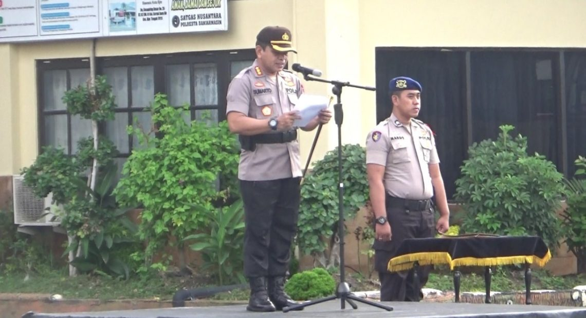apel gelar pasukan Operasi Lilin Intan 2019 di halaman Mapolresta Banjarmasin