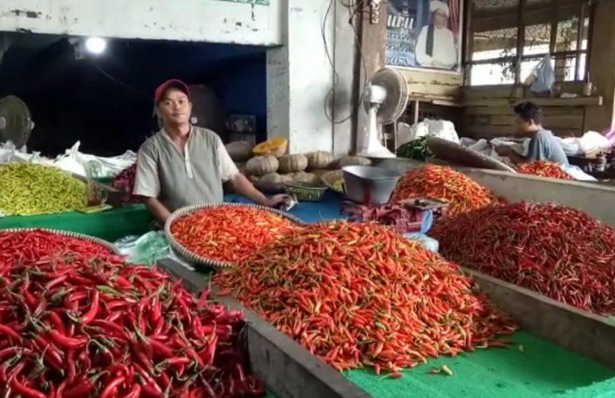 pedagang cabai di pasar Sentra Antasari