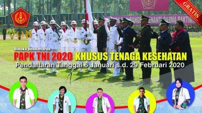 Cek Info Lengkap Pendaftaran Perwira Prajurit Karier TNI TA 2020