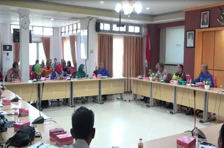 Jajaran SKPD TALA mengikuti rapat koordinasi siaga darurat bencana