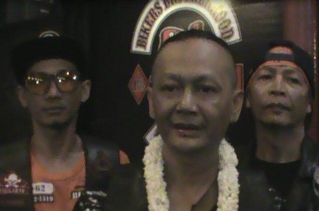 Kiki Prabawa (tengah) Vice Prisiden Brotherhood Mc 1% Borneo Chapter