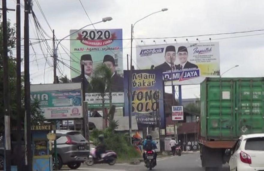 baliho di kota idaman, Banjarbaru