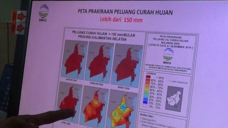 peta prakiraan peluang curah hujan