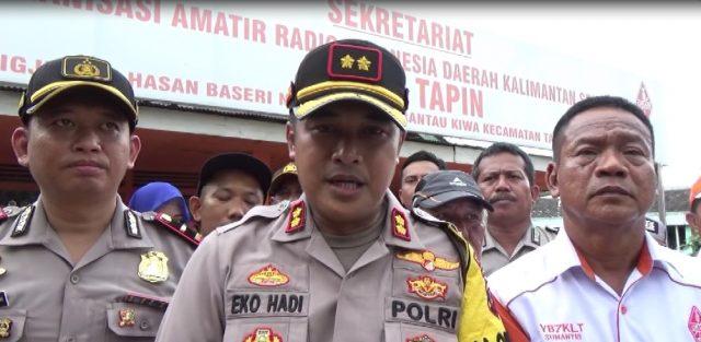 AKBP Eko Hadi Prayitno(tengah) Kapolres Tapin