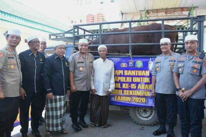 Kapolri dan Kapolda Kalsel Sumbang Sapi Limosin untuk Haul ke-15 Abah Guru Sekumpul