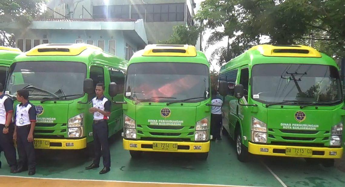 Bus Trans Banjarmasin mulai beropreasi