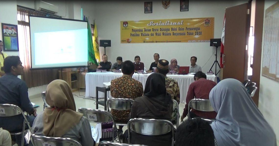 KPU Banjarmasin Sosialisasikan Penyerahan Dukungan Jalur Persorangan