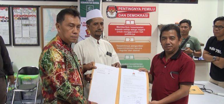 Khairul Saleh dengan Muhammad Ali Al Habsy telah mengantongi berita acara dari KPU Banjarmasin