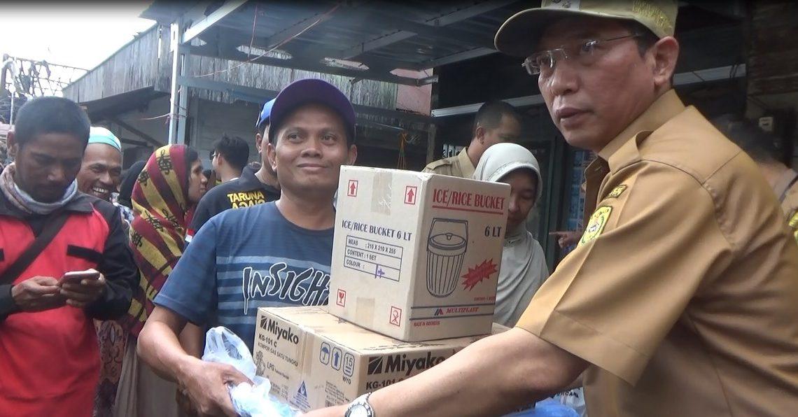 Korban Kebakaran terima bantuan dari Pemko Banjarmasin