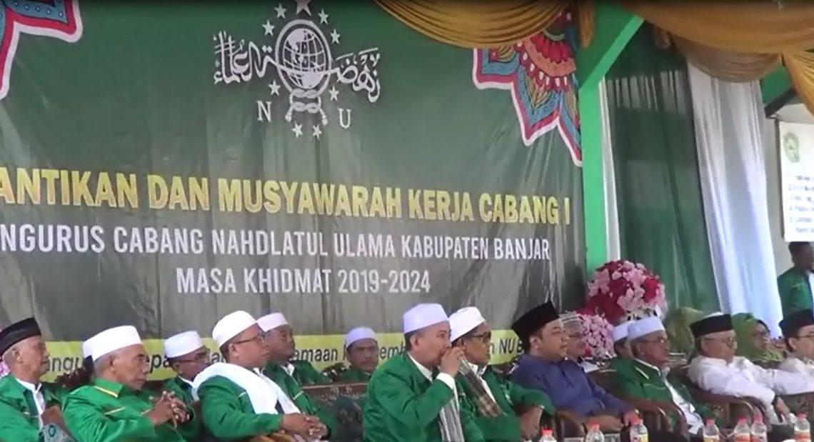 Pelantikan ketua pengurus wilayah NU Kalimantan Selatan