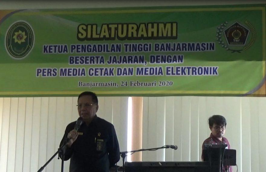 Pengadilan Tinggi Banjarmasin menggelar pertemuan silaturahmi, dengan wartawan