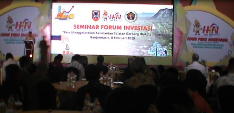 Seminar Investasi Menuju Kalsel Sebagai Pintu Gerbang Ibu Kota