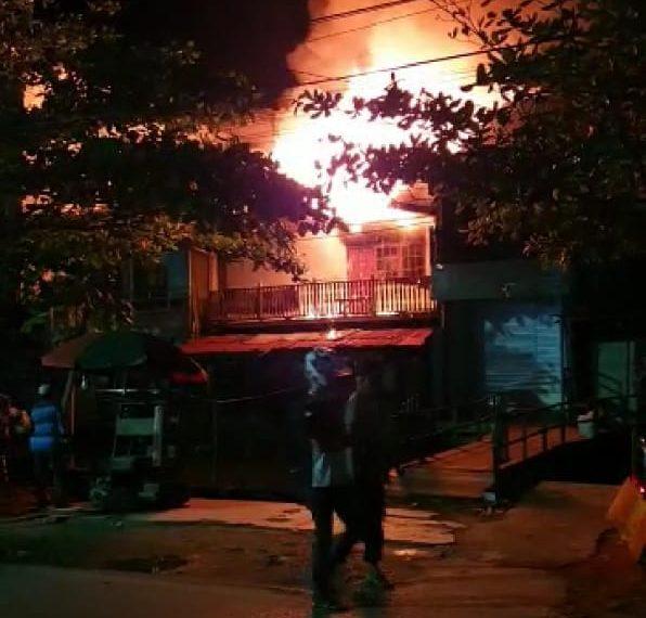 Kebakaran di Veteran, gang 5 Sejati, RT 22 Kecamatan Banjarmasin Tengah