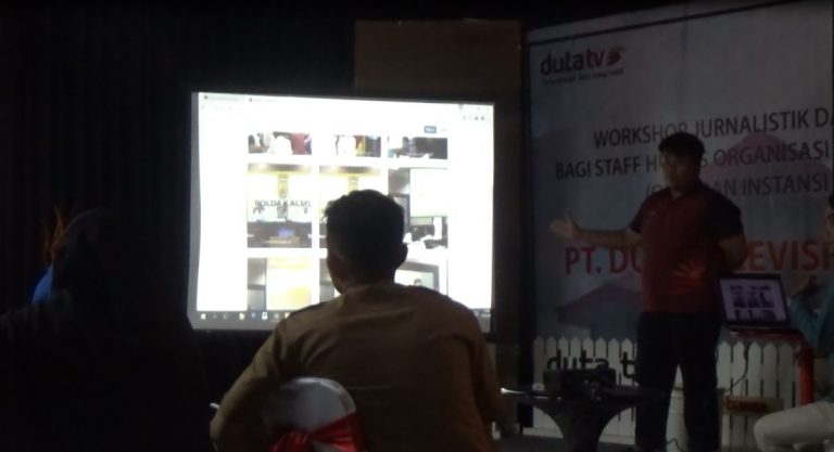 Workshop Jurnalistik dikantor Duta TV