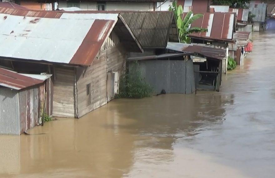 beberapa wilayah di Kabupaten Tapin tergenang Banjir