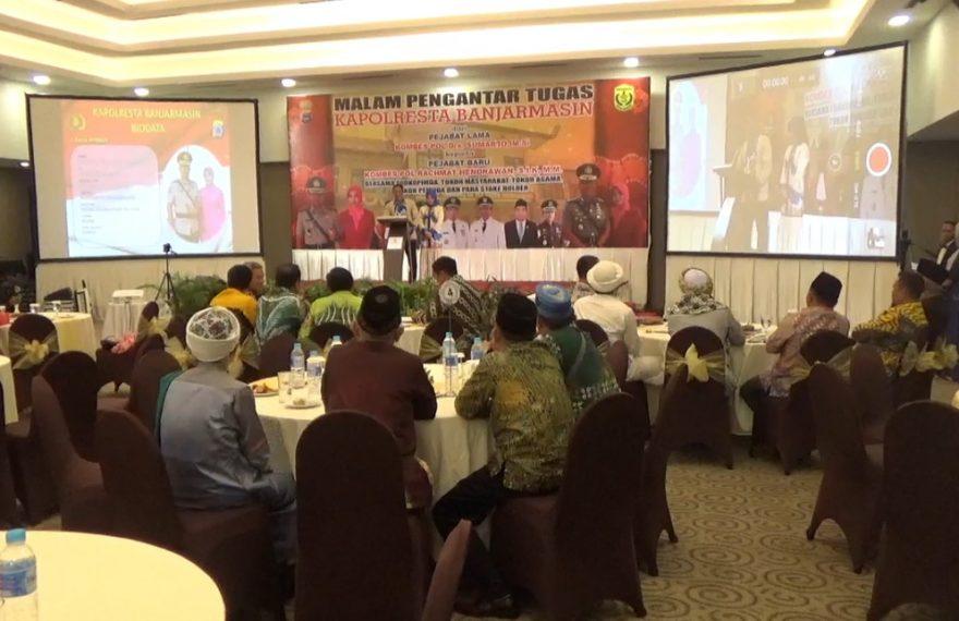 malam pengantar tugas pejabat lama kepejabat baru pimpinan Polresta Banjarmasin
