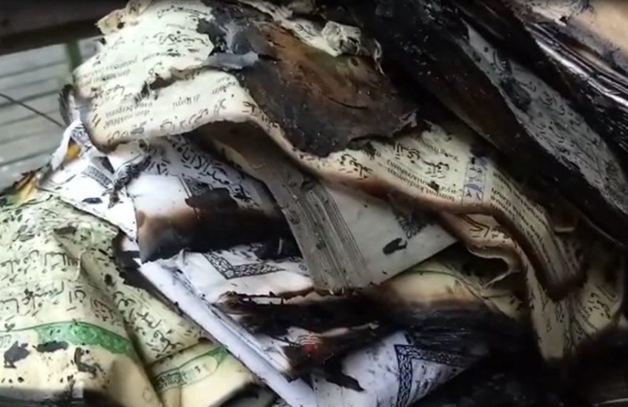 pasca peristiwa kebakaran, buku dan kitab hangus terbakar