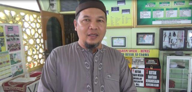 Hasbi Assidiq Perwakilan Pengurus Masjid Besar At Taqwa