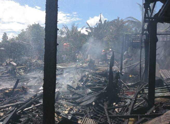 Kebakaran di Desa Pasar Jati Kecamatan Astambul