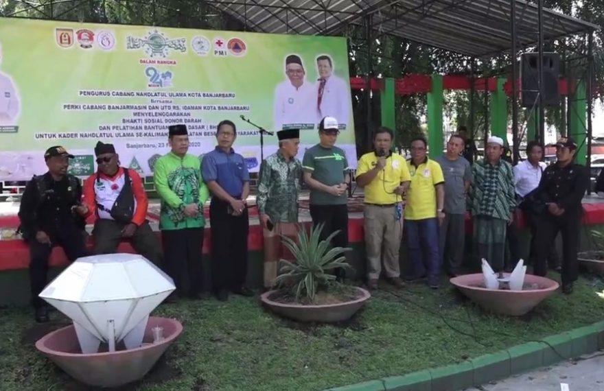 Pengurus Nahdatul Ulama Kota Banjarbaru menyelenggarakan bhakti sosial