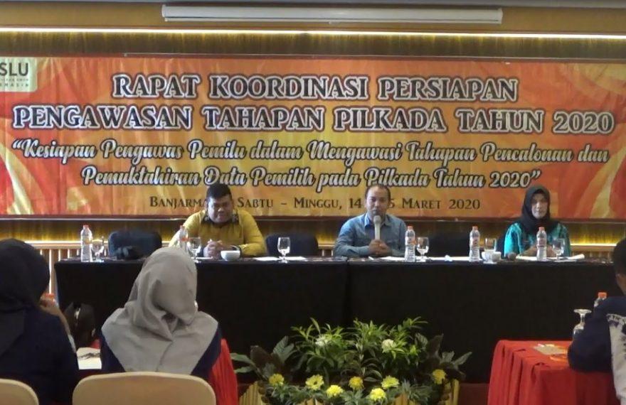 Rapat Koordinasi Persiapan Pengawasan Tahapan Pilkada 2020