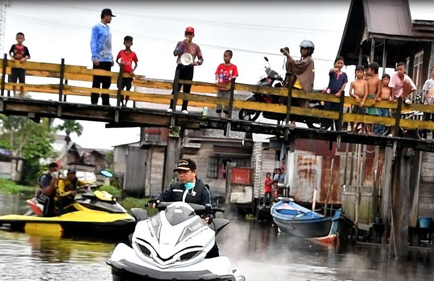 Susur Sungai untuk Sosialisasi Pencegahan Wabah Covid-19