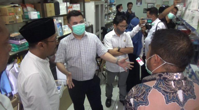 Komisi IV Cek Ketersediaan Masker dan Cairan Antiseptic