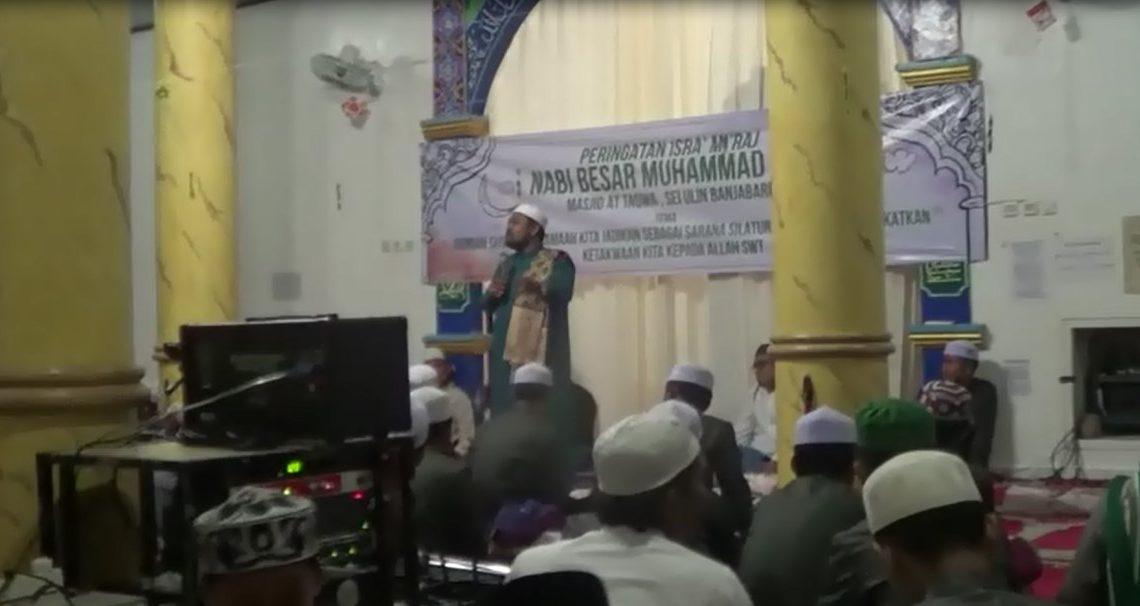 jemaah Masjid At-Taqwa Gelar Isra Miraj