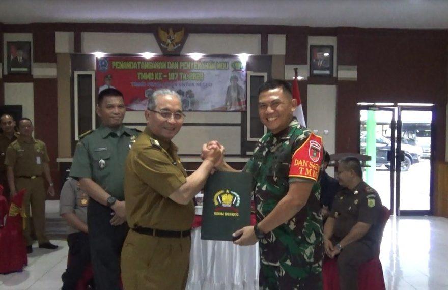 pembukaan kegiatan TNI manunggal membangun desa resmi dibuka