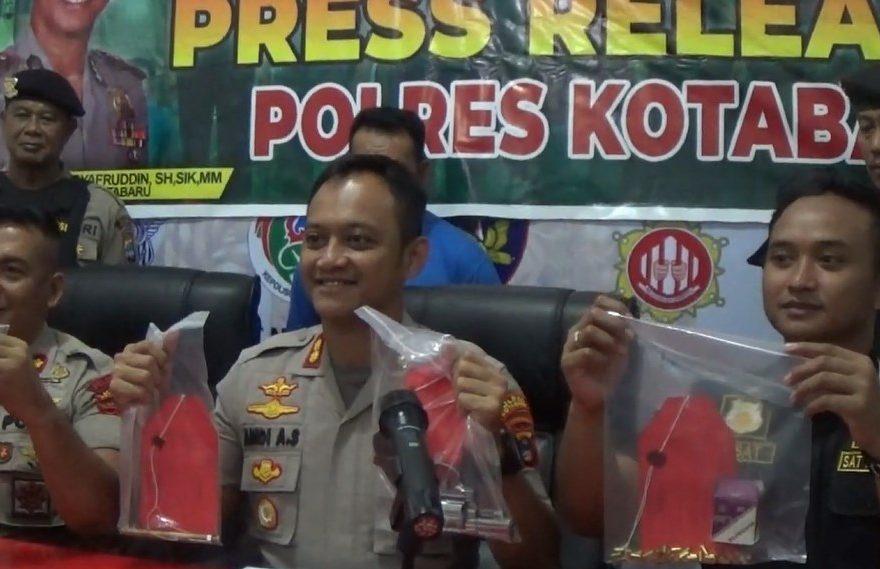 personel gabungan dari Polres Kotabaru menangkap penebangan liar
