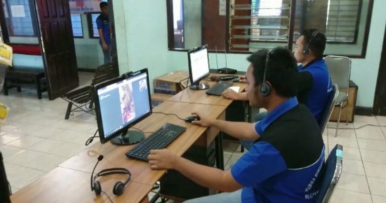 sidang dengan videocall di Rutan Pelaihari