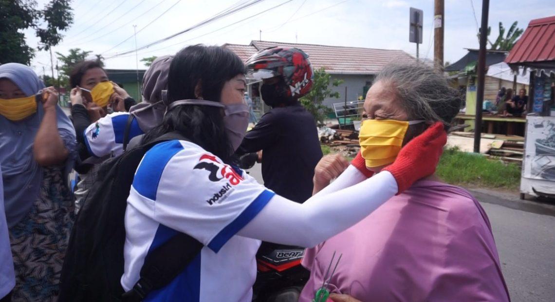 Aliansi Serikat Buruh bagi masker