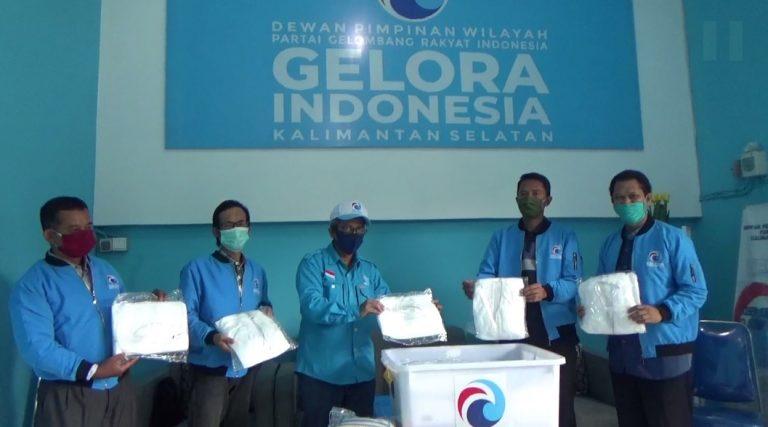 DPW Partai Gelora Indonesia Kalsel Salurkan Paket Sembako dan APD
