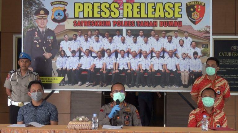 Operasi Sikat Intan Polres Tanah Bumbu Ungkap 52 Perkara