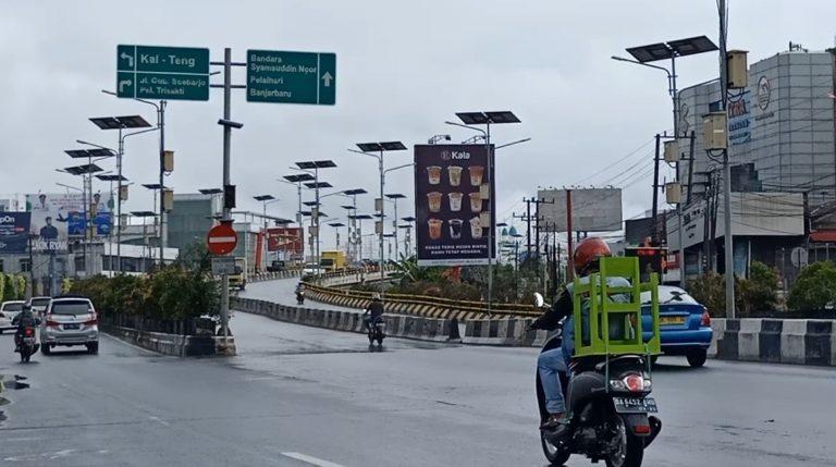 Akhir Pekan, Jalanan di Kota Banjarmasin Masih Ramai