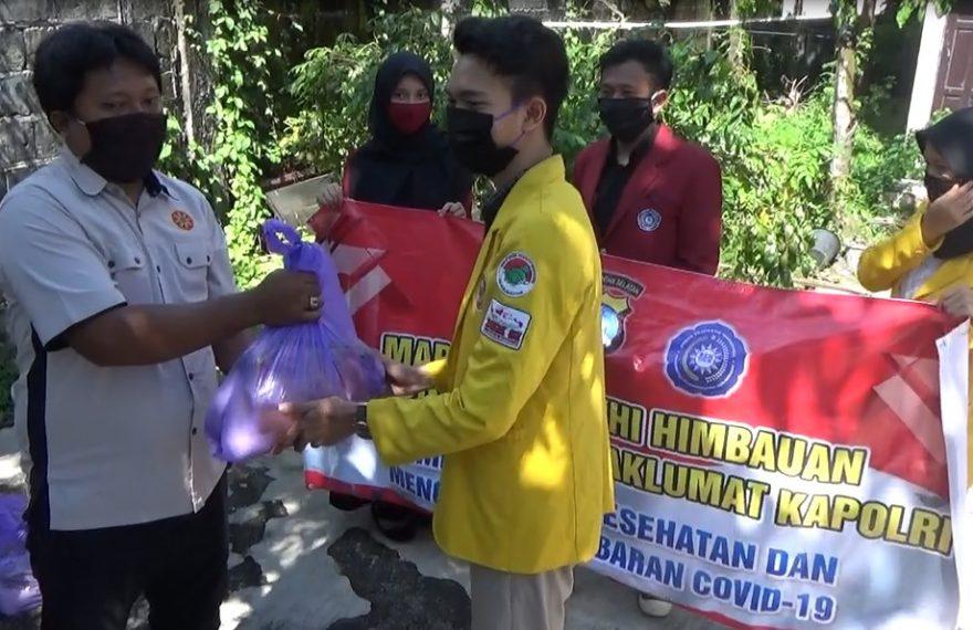 Bem ULM-UMB Salurkan Ratusan Paket Sembako