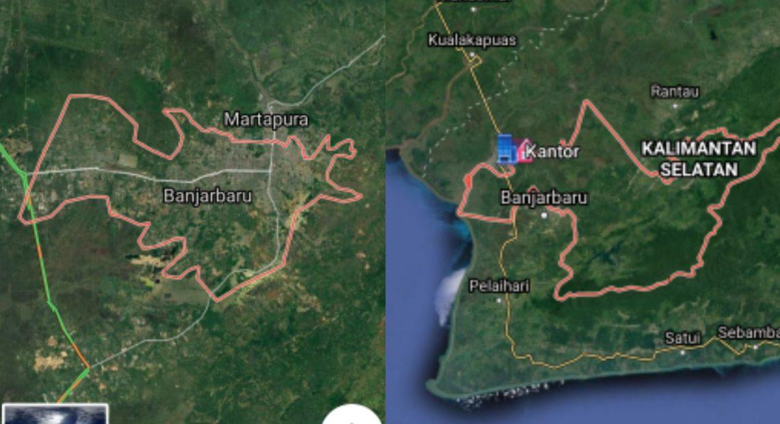 Google Maps Banjarbaru-Banjar