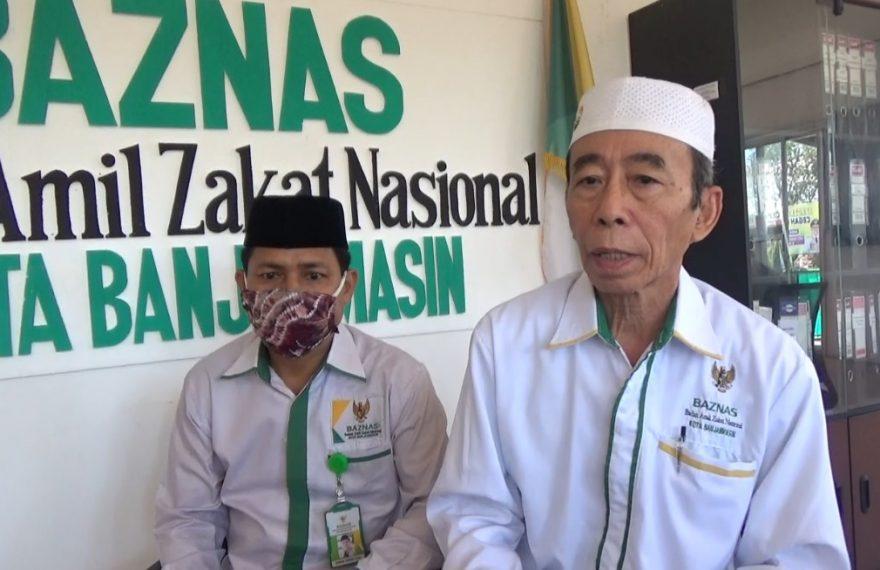 Murjani Sani (kanan), ketua Baznas kota Banjarmasin