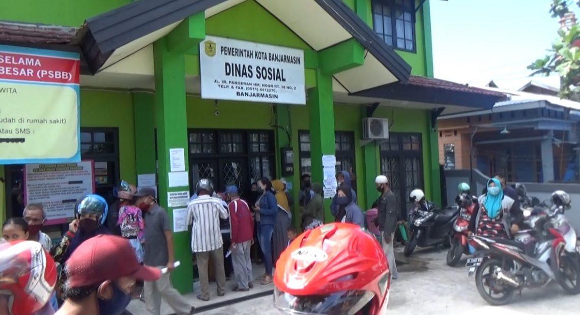 Dinas Sosial didatangi warga terdampak