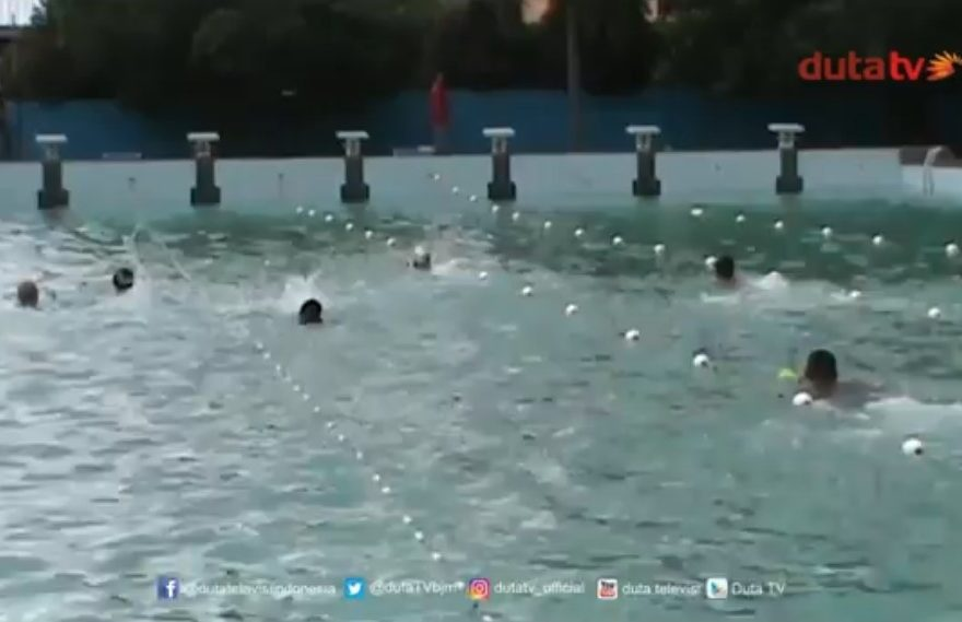dok : atlet difabel latihan renang