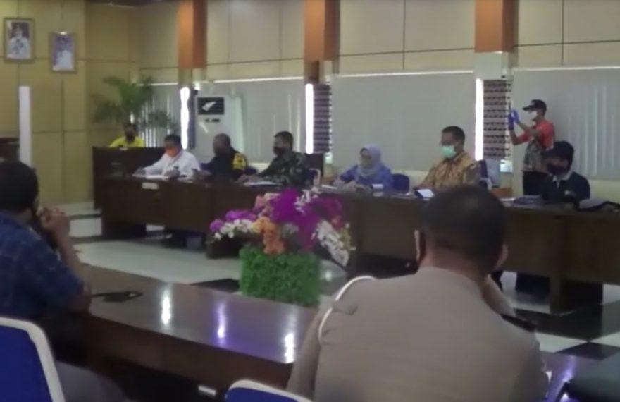 rapat koordinasi persiapan PSBB Kabupaten Banjar dan Kota Banjarbaru